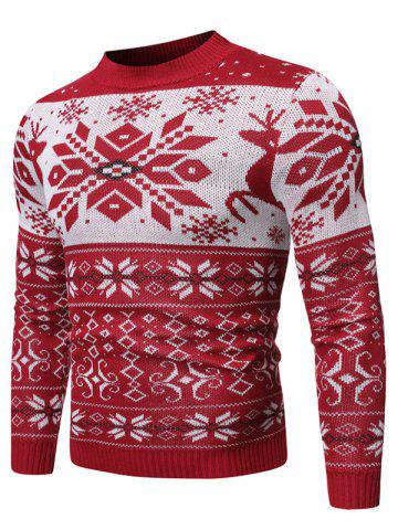 Christmas Snowflake Geometric Graphic Casual Sweater