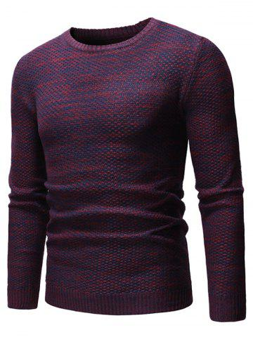 Heathered Knit Casual Pullover Sweater