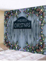 Merry Christmas Wooden Printed Tapestry -