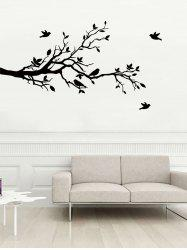 Tree Branches and Birds Print Decorative Wall Art Stickers -