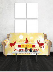 Christmas Tree Elks Greeting Pattern Couch Cover -