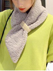 Winter Solid Lambswool Neck Collar Scarf -