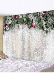 Christmas Branches Wood Board Pattern Tapestry Wall Hanging Art Decoration -