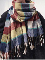 Plaid Fringed Thick Winter Long Scarf -