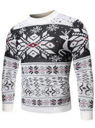 Christmas Snowflake Geometric Graphic Casual Sweater -