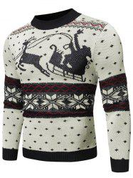 Christmas Pattern Graphic Casual Sweater -