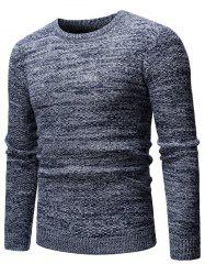 Heathered Knit Casual Pullover Sweater -