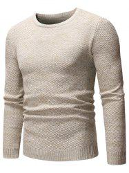 Chiné Knit Casual Pull -