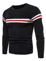 Colorblock rayé graphique Pull Casual -