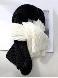 Winter Knitted Colorblock Neck Scarf -