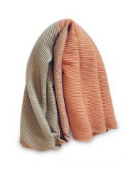 Winter Striped Gradient Color Crinkle Long Scarf -