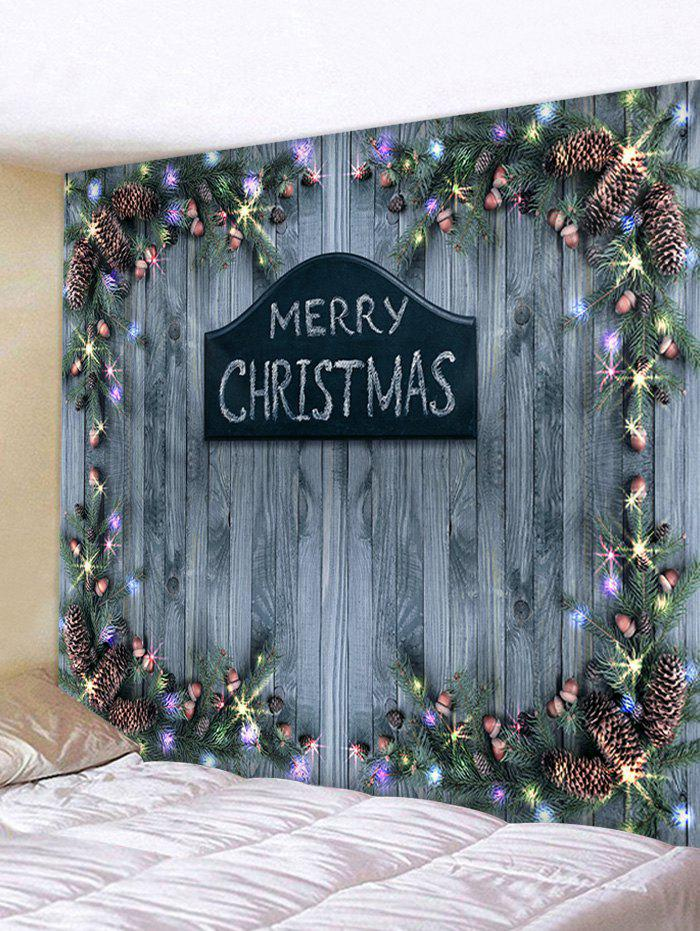 Buy Merry Christmas Wooden Printed Tapestry