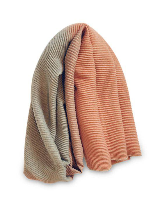 Outfit Winter Striped Gradient Color Crinkle Long Scarf