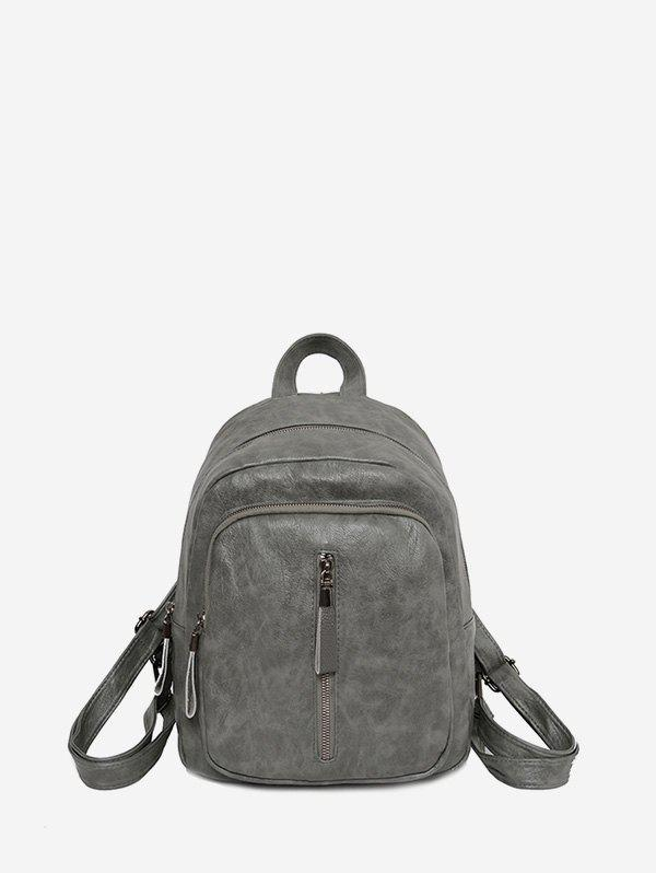 Fancy Solid Casual Travel Soft Leather Backpack
