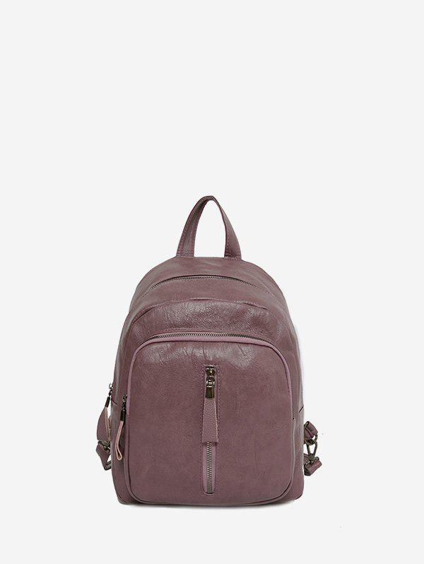 Chic Solid Casual Travel Soft Leather Backpack