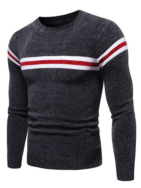 Best Colorblock Striped Graphic Casual Sweater