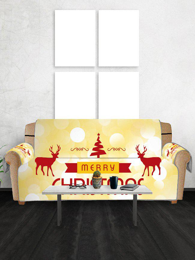 Outfits Christmas Tree Elks Greeting Pattern Couch Cover