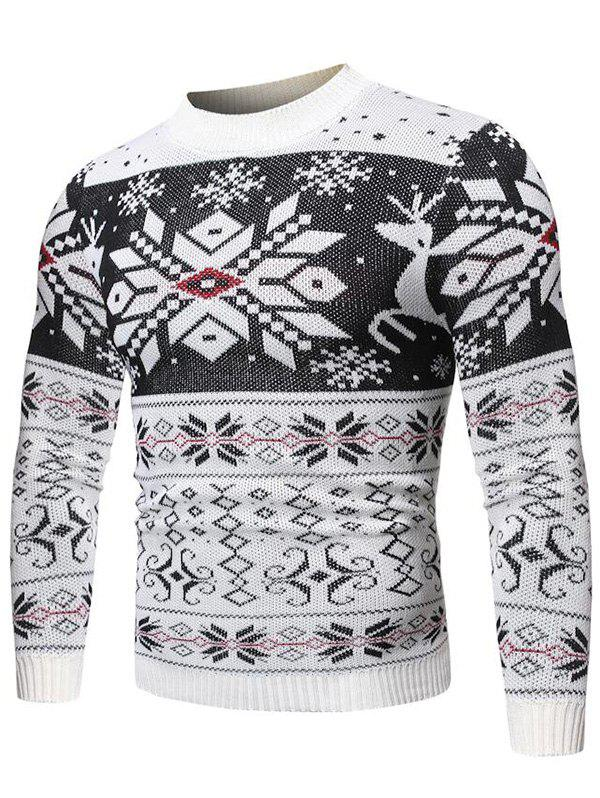 Hot Christmas Snowflake Geometric Graphic Casual Sweater