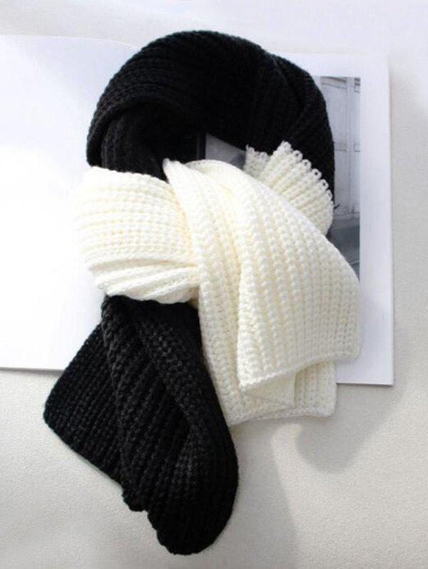 New Winter Knitted Colorblock Neck Scarf