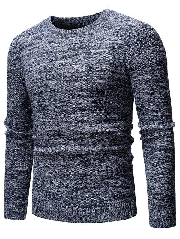 Outfits Heathered Knit Casual Pullover Sweater
