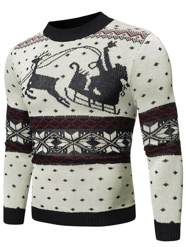 Buy Christmas Pattern Graphic Casual Sweater