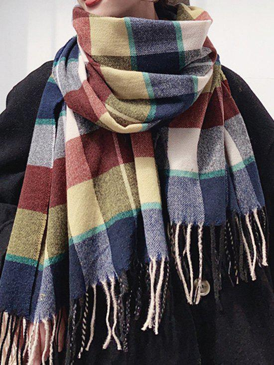 Discount Plaid Fringed Thick Winter Long Scarf
