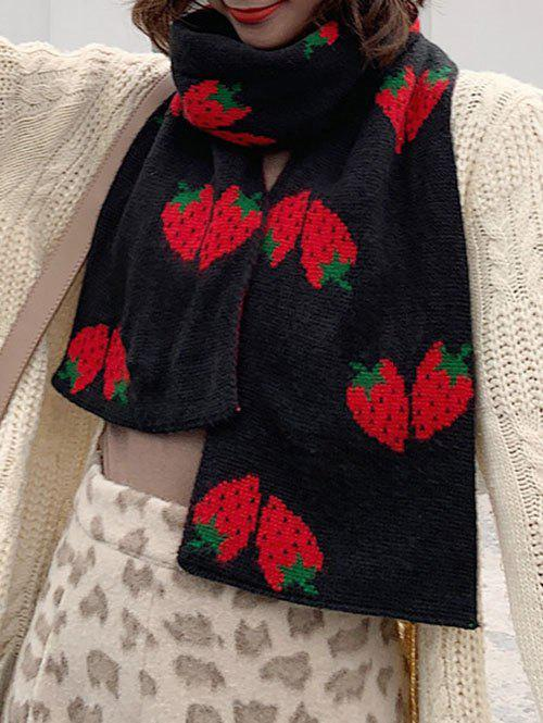 Shops Strawberry Pattern Knitted Winter Long Scarf