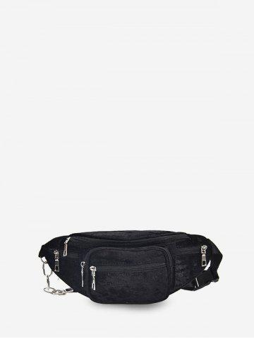 Suede Pockets Solid Chest Bag