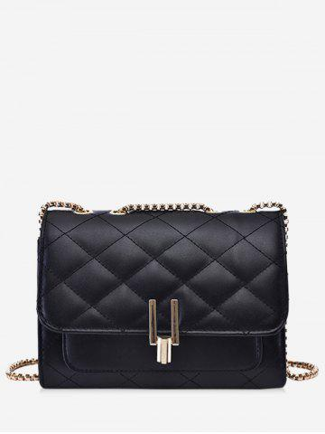 Rectangle Quilted Chain Crossbody Bag