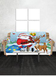 Father Christmas Gift Printed Couch Обложка -