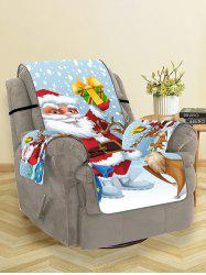 Father Christmas Gift Printed Couch Cover -