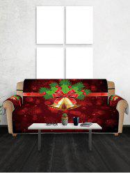 Christmas Bell Printed Couch Cover -