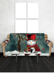 Christmas Snowman Star Printed Couch Cover -