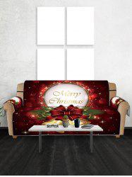 Merry Christmas Bell Design Couch Cover -