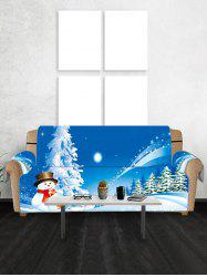 Christmas Snowman Star Print Couch Cover -
