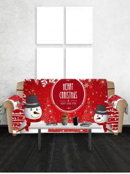 Merry Christmas Snowman Print Couch Cover -