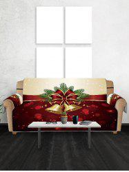 Christmas Bell Snowflake Couch Cover -