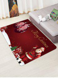 Father Christmas Ball Gift Floor Rug -