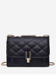 Rectangle Quilted Chain Crossbody Bag -