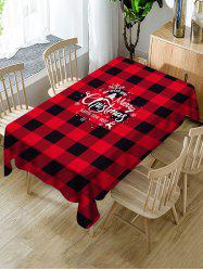 Merry Christmas Plaid Table Cloth -