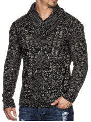 Casual Cable Knit Shawl Collar Sweater -