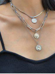 Multi Layered Portrait Chain Necklace -