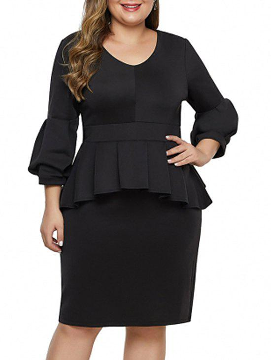 Plus Size Sheath Peplum Dress