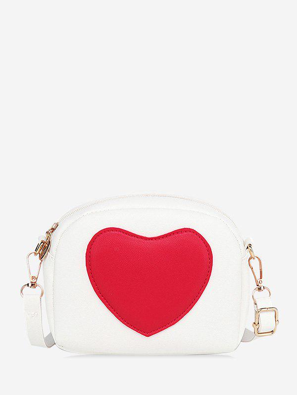 New Heart Pattern Color-blocking Crossbody Bag