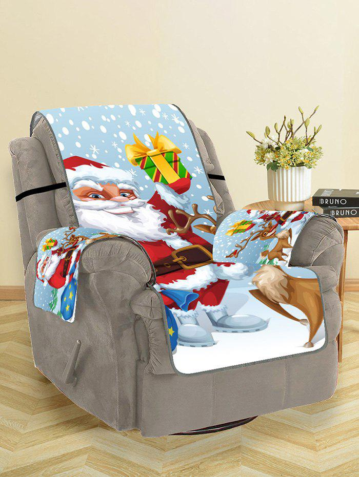 Discount Father Christmas Gift Printed Couch Cover