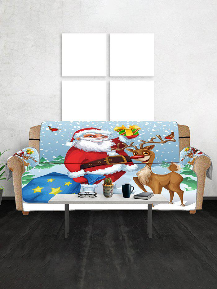 Father Christmas Gift Printed Couch Обложка