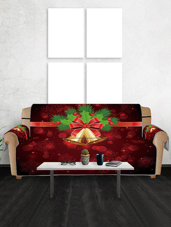 Groovy Christmas Bell Printed Couch Cover Beatyapartments Chair Design Images Beatyapartmentscom