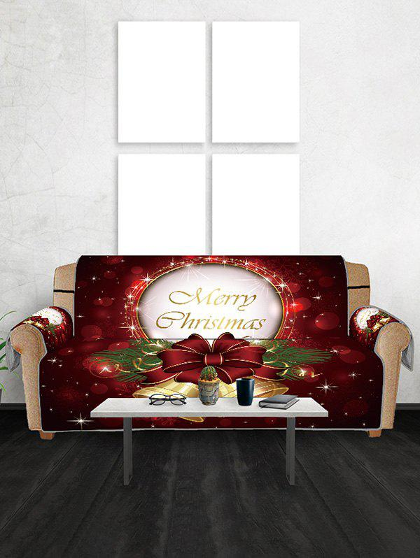 Outfit Merry Christmas Bell Design Couch Cover