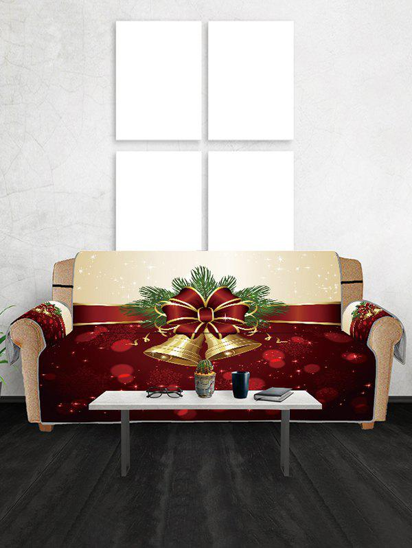 Affordable Christmas Bell Snowflake Couch Cover