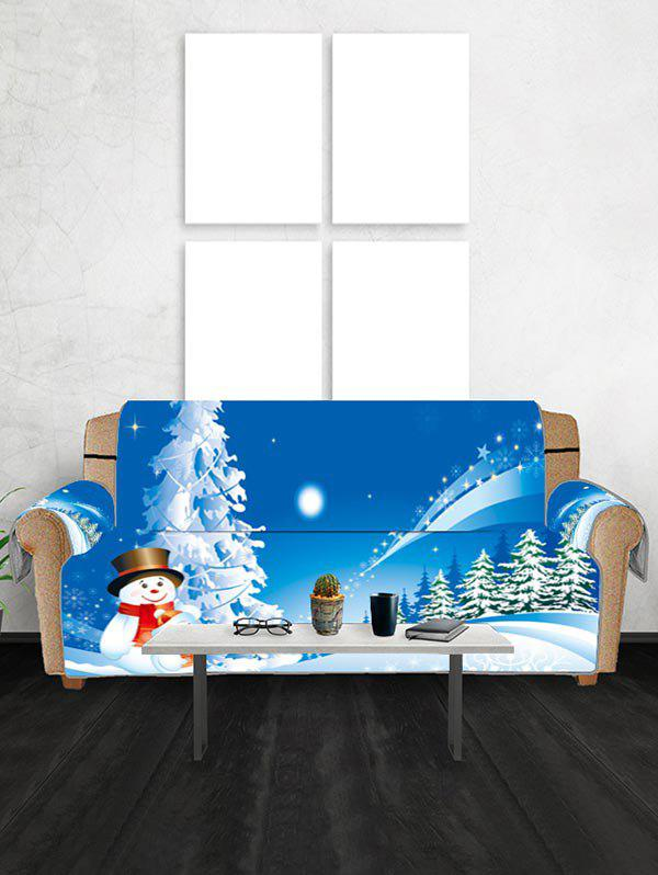 Discount Christmas Snowman Star Print Couch Cover